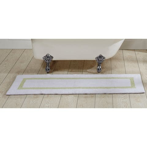 Better Trends Hotel Collection in Race Track Pattern 100% Cotton Super Absorbent Reversible Double Sided Bath Mat Rug