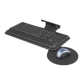 Safco Adjustable Keyboard Platform with Swivel Mouse Tray Adjustable Keyboard Platform