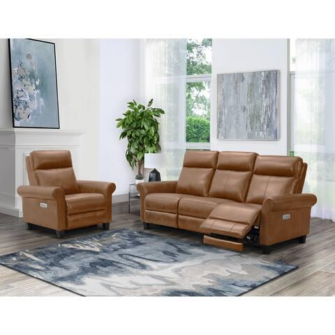 Abbyson Edison Power Reclining Sofa and Chair