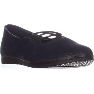 Easy Street Effie Flat Comfort Shoes, Navy