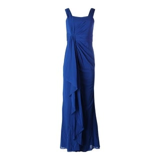 Badgley Mischka Womens Silk Boning Evening Dress