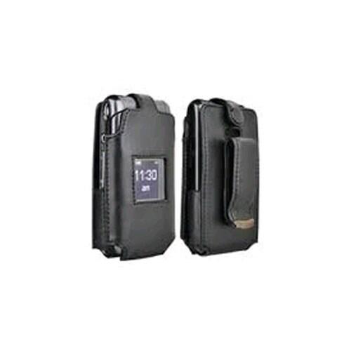 Verizon Leather Clip Case for Samsung Haven U320 - Black