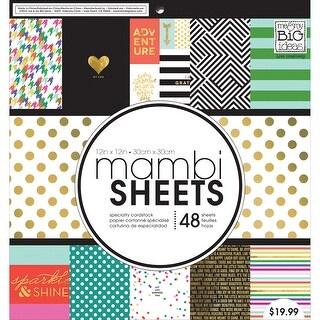 "MAMBI Single-Sided Paper Pad 12""X12"" 48/Pkg-Big City Brights"
