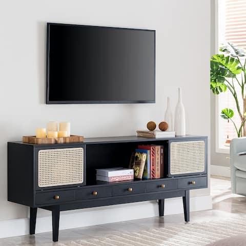SEI Furniture Simms Mid-century Modern TV Media Console