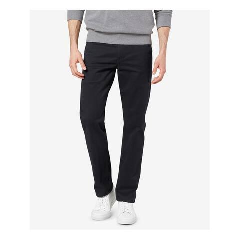 DOCKERS Mens Black Stretch Solid Work Pants Size W38/ L32 - W38/ L32