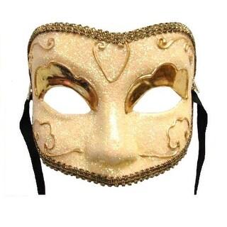 Golden Lady Eye Venetian, Masquerade, Mardi Gras Mask - Gold