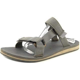 Teva Universal Slide Men Open Toe Canvas Gray Slides Sandal
