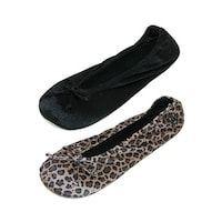 d301c4ac607 Shop Isotoner Women s Terry Classic Ballerina Slippers (Pack of 2 ...