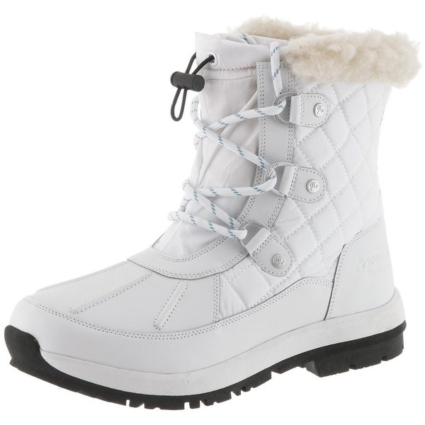 Bearpaw Boots Womens Bethany Quilted Nylon Polyurethane