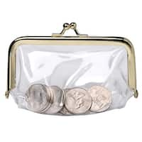 Women's See Through Vinyl Change Purse - One size
