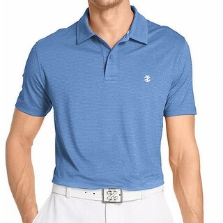 IZOD NEW Blue Mens Size XL Golf Heathered Textured Athletic Shirt