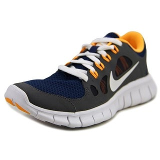 Nike Free 5.0 (GS) Youth Round Toe Synthetic Gray Running Shoe