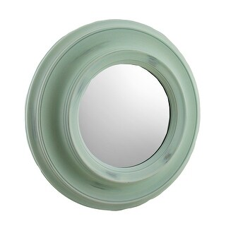 16 Inch Diameter Round Porthole Style Wall Mirror Slate Blue - 16 X 16 X 2 inches