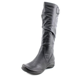 Hush Puppies Alternative_18BT Women Round Toe Synthetic Black Knee High Boot