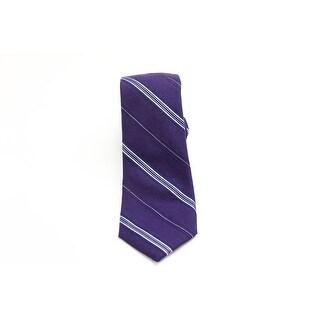 Black Brown 0746 NEW Purple Violet Woven Striped Men's Neck Tie Silk