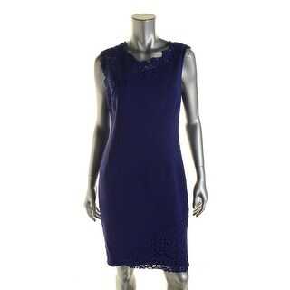 Elie Tahari Womens Emory Asymmetric Lace Yoke Cocktail Dress
