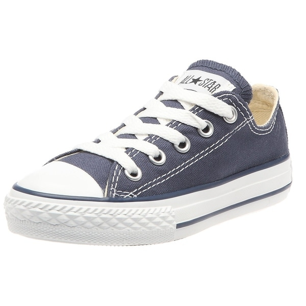 67639f0be0d0 Converse Unisex Child Infant Toddler Chuck Taylor All Star Ox - Navy - 10  TOD