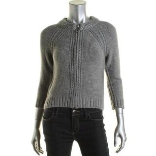 Elie Tahari Womens Knit 3/4 Sleeve Cardigan Sweater - XS