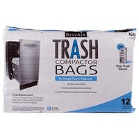 WMCK1335012-6 2-Ply Trash Compactor Bags, 9 x 17 x 15 in.