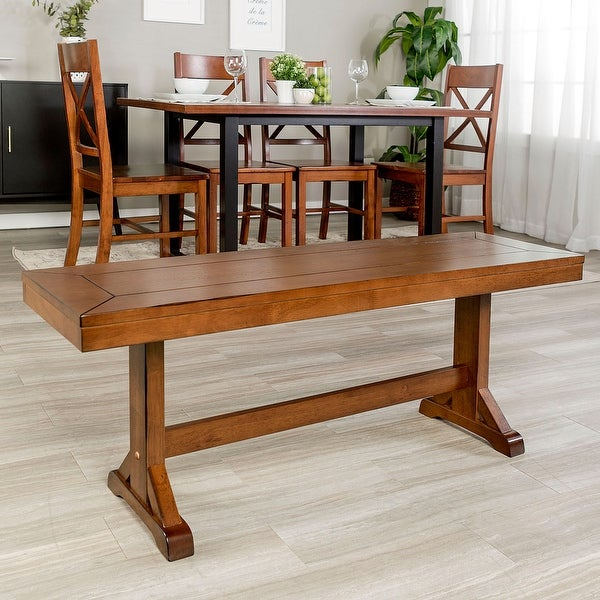 Shop Offex 48 Quot Millwright Contemporary Solid Wood Dining