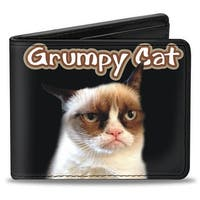 Grumpy Cat Black Tan Red White Bi Fold Wallet - One Size Fits most