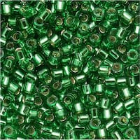 Miyuki Delica Seed Beads, 11/0 Size, 7.2 Grams, Silver Lined Light Green DB046