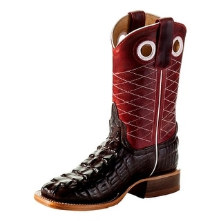 Anderson Bean Western Boots Boys Girls Kids Square Chocolate K1772