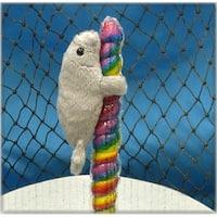 "Wishpets Unisex-Child Manatee on Candy Pop Plush Toy 4"" Gray"
