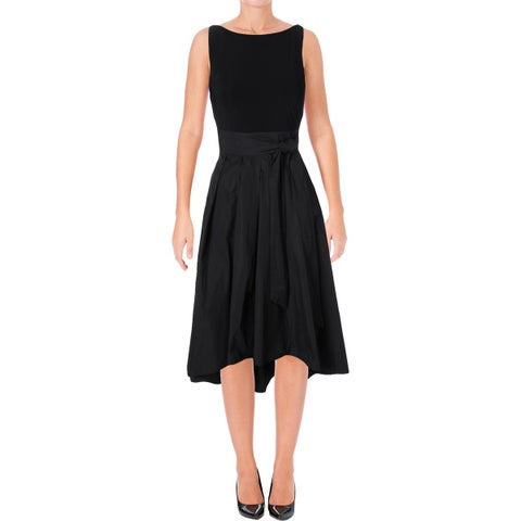 Lauren Ralph Lauren Womens Petites Cocktail Dress Hi-Low Sleeveless