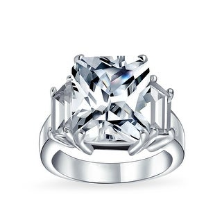 Link to 925 Sterling Silver 5CT AAA CZ Emerald Cut Engagement Ring Baguette Similar Items in Rings