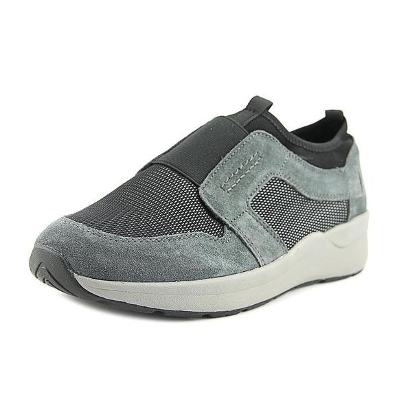 Easy Spirit Ilex Women W Round Toe Leather Gray Loafer