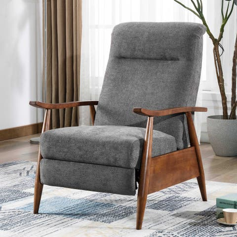 Sloan Wood Arm Push Back Recliner by Greyson Living