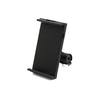 Car 360 Degree Adjustable Black Plastic Seatback Tablet PC Phone Mount Holder