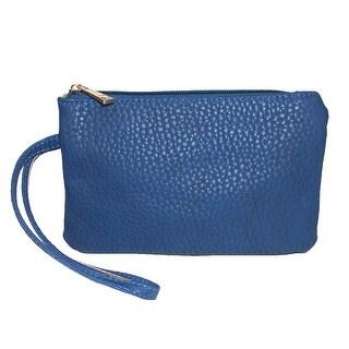 CTM® Women's Zip Top Clutch Wristlet Handbag - One Size