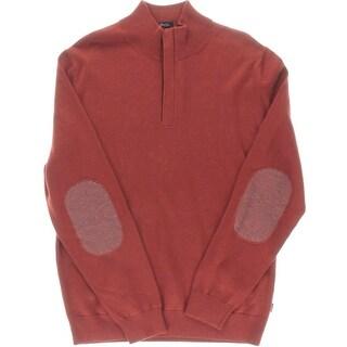 BOSS Hugo Boss Mens Enricco Wool Blend Mock Neck 1/2 Zip Sweater - L