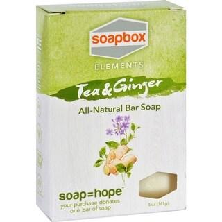 Soapbox Soaps - Tea And Ginger  Bar Oap ( 4 - 5 OZ)