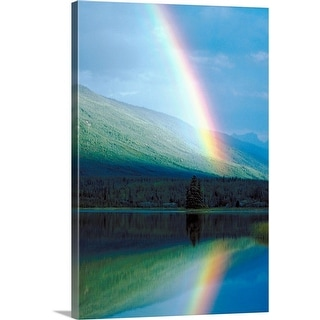 """Rainbow reflection, Northwest Territories"" Canvas Wall Art"