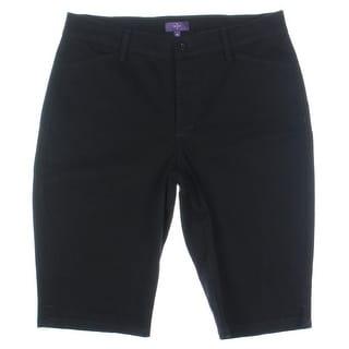 NYDJ Womens Twill Lift Tuck Bermuda Shorts