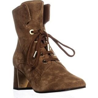 Marion Parke Stevie Lace-Up Boots, Cognac Suede
