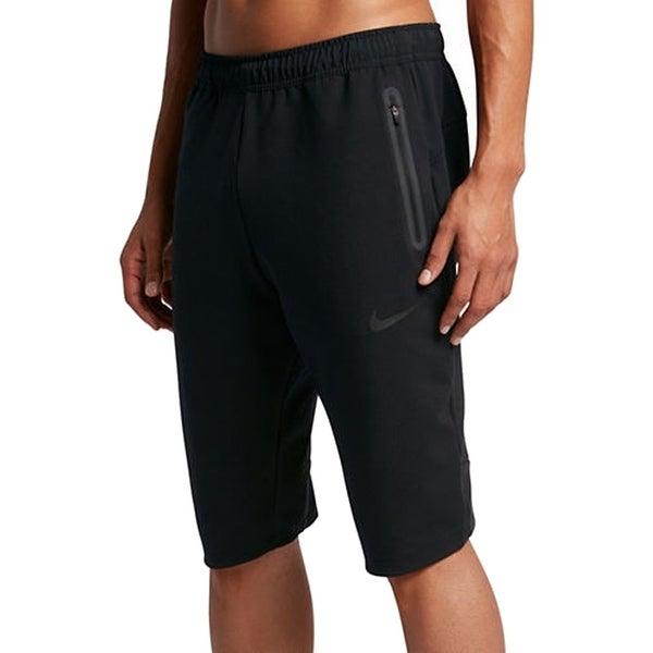 Nike NEW Men's Black Size XL Athletic Drawstring Zipped-Pocket Shorts