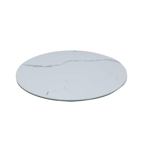 "Somette Lazy Susan 23"" Round Ceramic Tray - 23-inch"