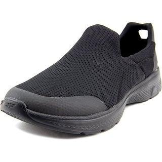 Skechers Go Walk 4-Incredible Men Round Toe Synthetic Black Walking Shoe