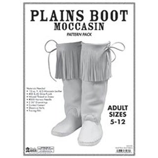 Adult Plains Boot Moccasin - Pattern Pack