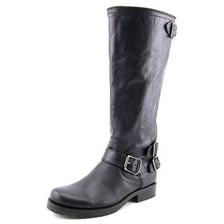 Frye Veronica Back Zip Tall   Round Toe Leather  Knee High Boot
