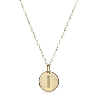 Eternity Gold I Initial Disc Pendant In 14K Gold 18 Yellow