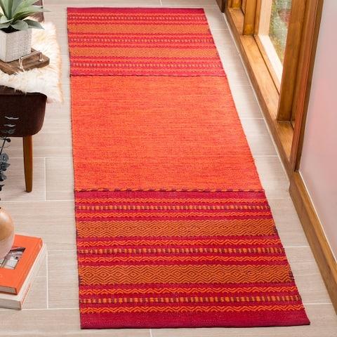 Safavieh Handmade Montauk Galija Boho Stripe Cotton Flatweave Rug
