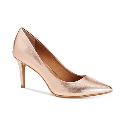 Calvin Klein Gayle Leather Pointed-Toe Pumps kddYSZ7
