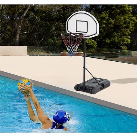 "35.4"" - 47.2"" Adjustable Height Swimming Pool Basketball Hoop"