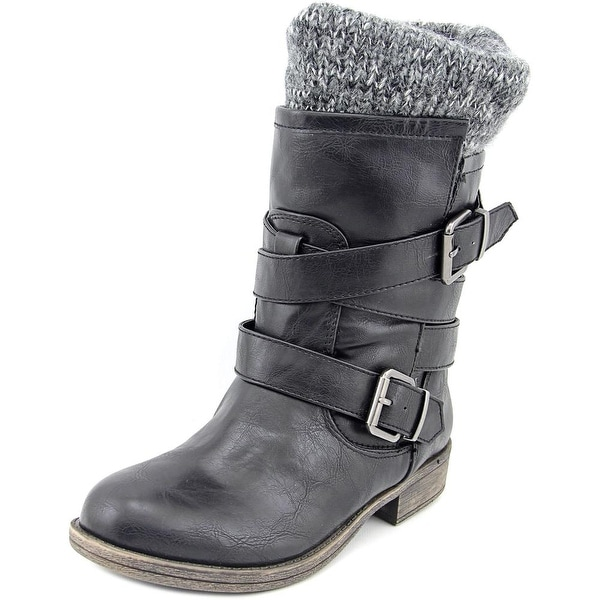 Sugar Intzy Women Round Toe Synthetic Mid Calf Boot