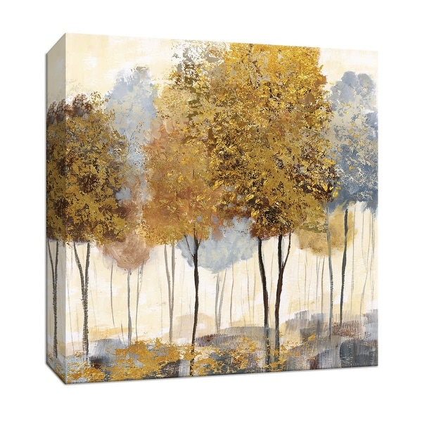 """PTM Images 9-147296 PTM Canvas Collection 12"""" x 12"""" - """"Metallic Forest II"""" Giclee Trees Art Print on Canvas"""